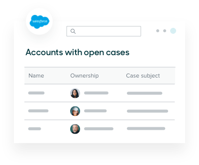 Zendesk ticket data showing accounts with open cases