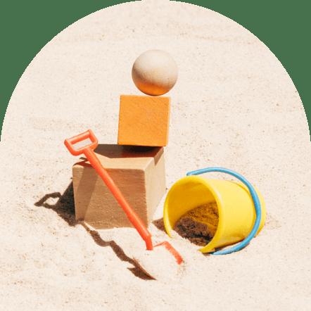 Uma caixa de areia